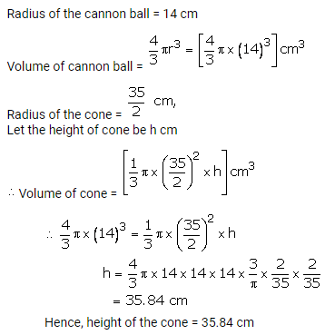 RS Aggarwal Solutions Class 10 Chapter 19 Volume and Surface Areas of Solids Ex 19b 10