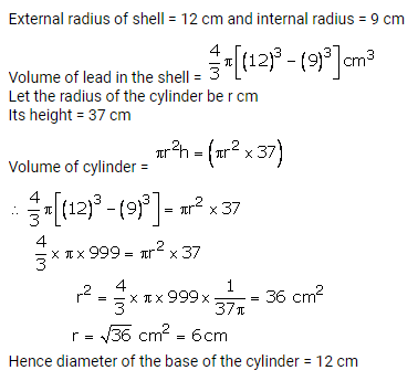 RS Aggarwal Solutions Class 10 Chapter 19 Volume and Surface Areas of Solids Ex 19b 12