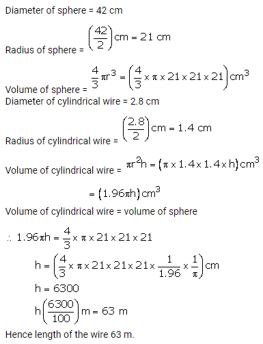 RS Aggarwal Solutions Class 10 Chapter 19 Volume and Surface Areas of Solids Ex 19b 17