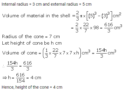 RS Aggarwal Solutions Class 10 Chapter 19 Volume and Surface Areas of Solids Ex 19b 6