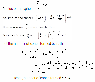 RS Aggarwal Solutions Class 10 Chapter 19 Volume and Surface Areas of Solids Ex 19b 9