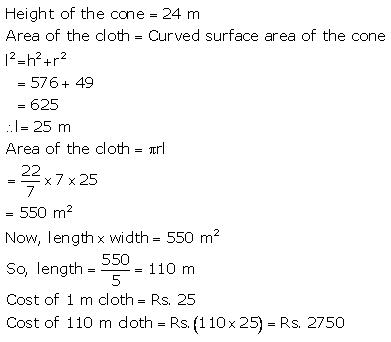 RS Aggarwal Solutions Class 10 Chapter 19 Volume and Surface Areas of Solids Ex 19d 28