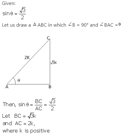 RS Aggarwal Solutions Class 10 Chapter 5 Trigonometric Ratios Ex 5 1
