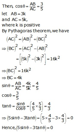 RS Aggarwal Solutions Class 10 Chapter 5 Trigonometric Ratios Ex 5 16