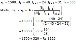 RS Aggarwal Solutions Class 10 Chapter 9 Mean, Median, Mode of Grouped Data Ex 9c 5