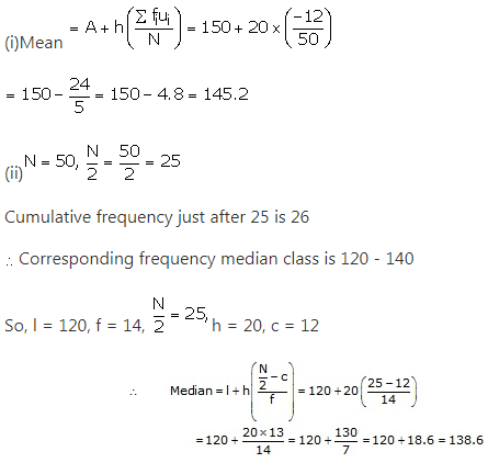 RS Aggarwal Solutions Class 10 Chapter 9 Mean, Median, Mode of Grouped Data Ex 9d 9