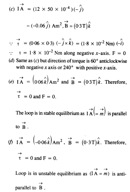 NCERT Solutions for Class 12 Physics Chapter 4 Moving Charges and Magnetism 30