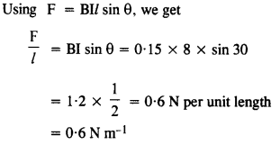 NCERT Solutions for Class 12 Physics Chapter 4 Moving Charges and Magnetism 6