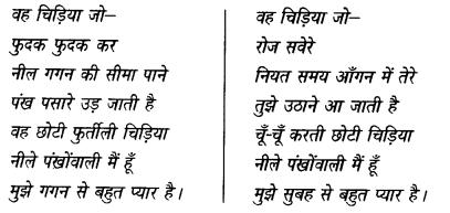 NCERT Solutions for Class 6 Hindi Vasant Chapter 1 वह चिड़िया जो 2