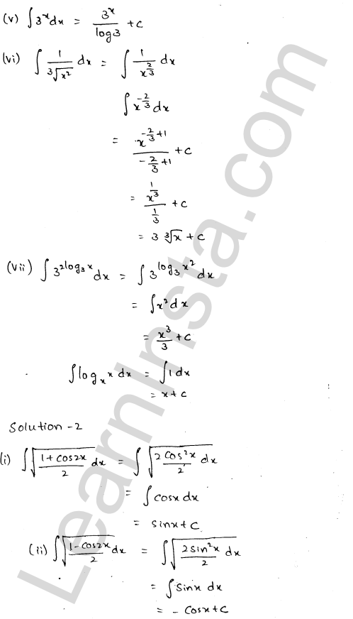 RD Sharma Class 12 Solutions Chapter 19 Indefinite Integrals Ex 19.1 1.2