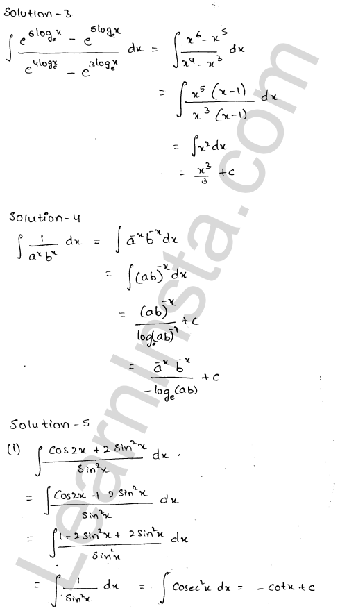 RD Sharma Class 12 Solutions Chapter 19 Indefinite Integrals Ex 19.1 1.3