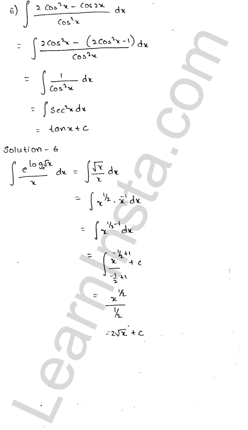 RD Sharma Class 12 Solutions Chapter 19 Indefinite Integrals Ex 19.1 1.4