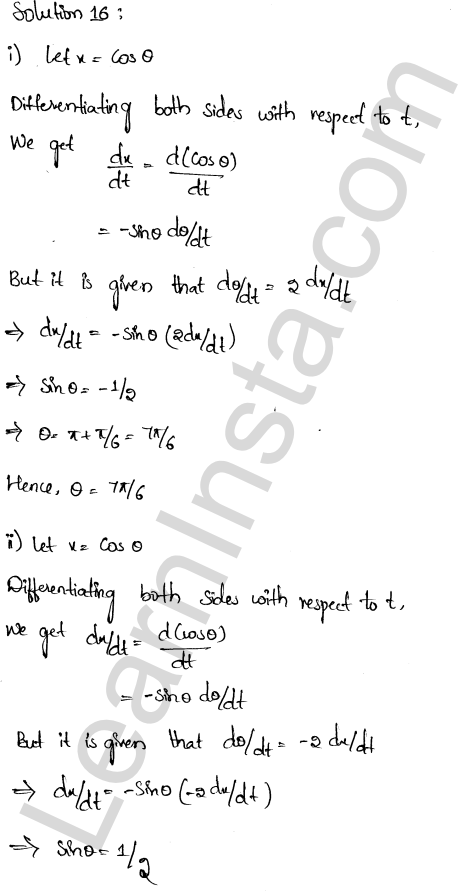 RD Sharma Class 12 Solutions Chapter 13 Derivative as a Rate Measurer Ex 13.2 1.10
