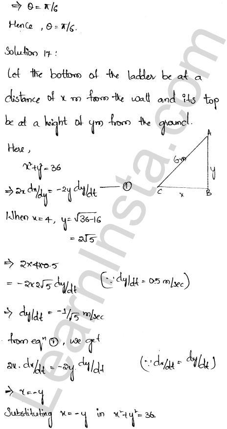 RD Sharma Class 12 Solutions Chapter 13 Derivative as a Rate Measurer Ex 13.2 1.11