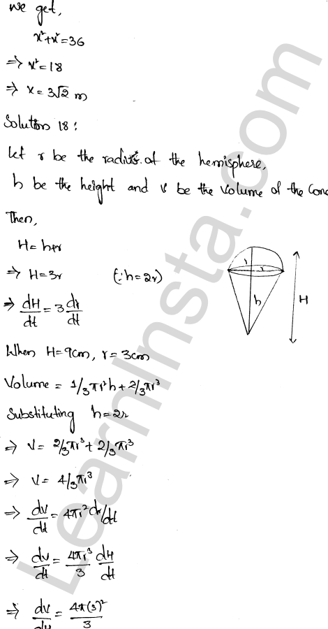 RD Sharma Class 12 Solutions Chapter 13 Derivative as a Rate Measurer Ex 13.2 1.12
