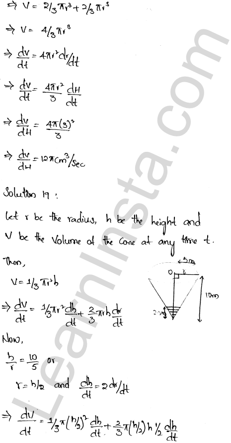 RD Sharma Class 12 Solutions Chapter 13 Derivative as a Rate Measurer Ex 13.2 1.13