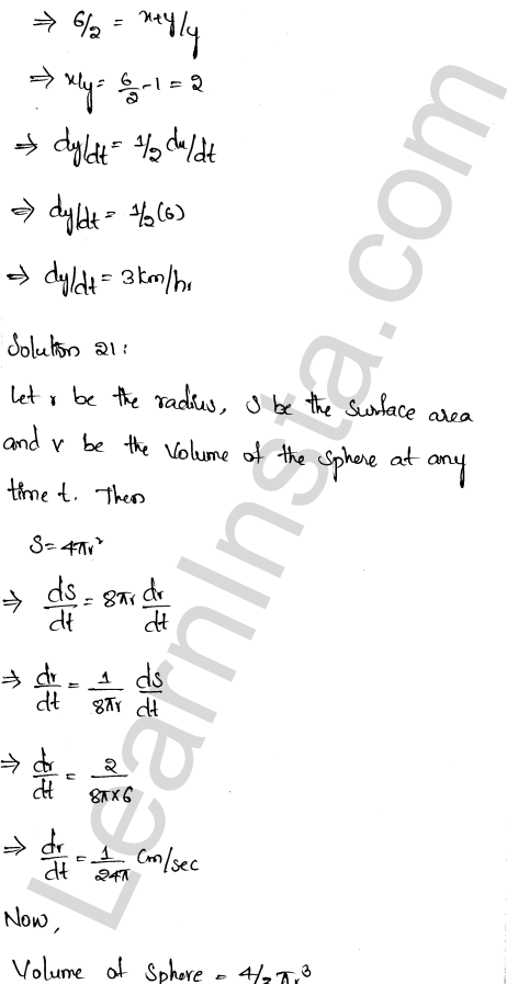 RD Sharma Class 12 Solutions Chapter 13 Derivative as a Rate Measurer Ex 13.2 1.15