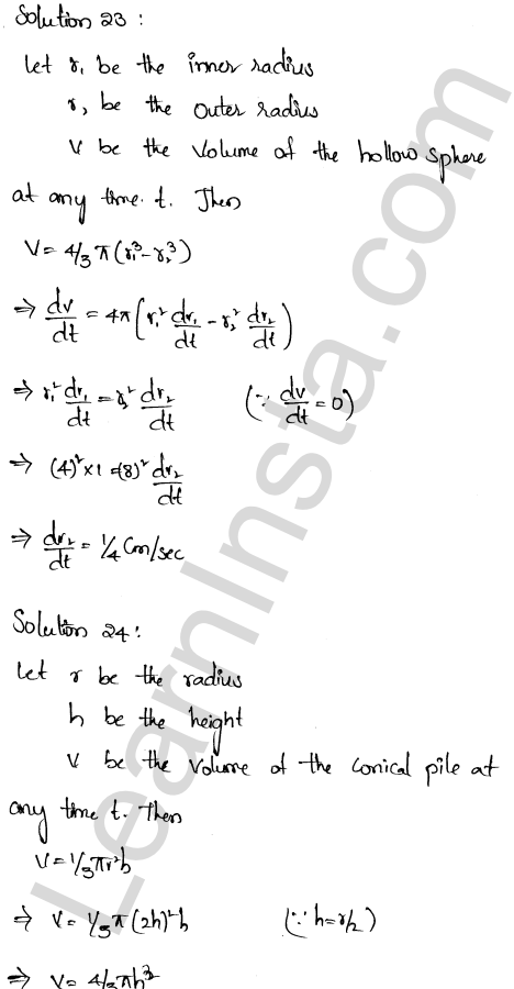 RD Sharma Class 12 Solutions Chapter 13 Derivative as a Rate Measurer Ex 13.2 1.17