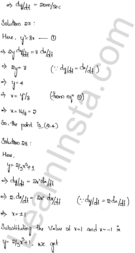 RD Sharma Class 12 Solutions Chapter 13 Derivative as a Rate Measurer Ex 13.2 1.19