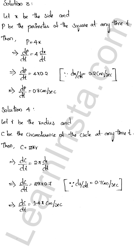 RD Sharma Class 12 Solutions Chapter 13 Derivative as a Rate Measurer Ex 13.2 1.2