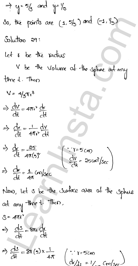 RD Sharma Class 12 Solutions Chapter 13 Derivative as a Rate Measurer Ex 13.2 1.20