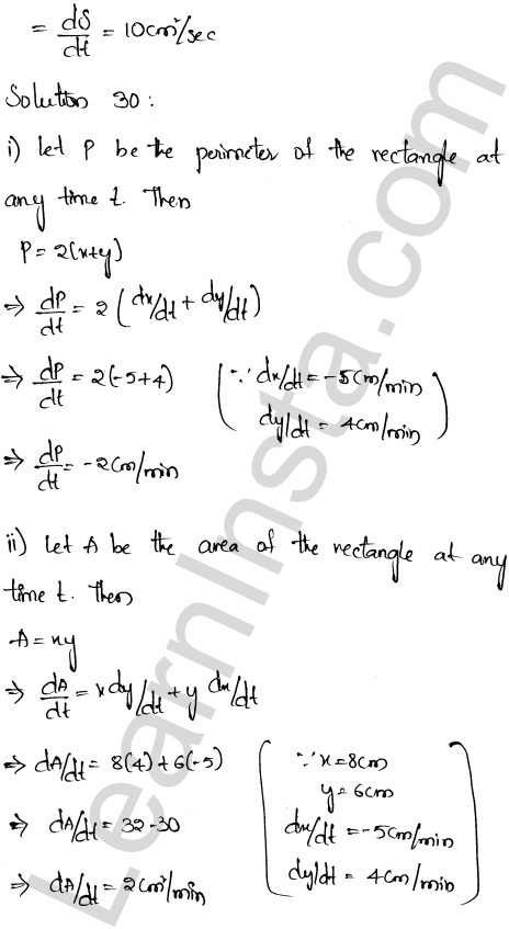 RD Sharma Class 12 Solutions Chapter 13 Derivative as a Rate Measurer Ex 13.2 1.21
