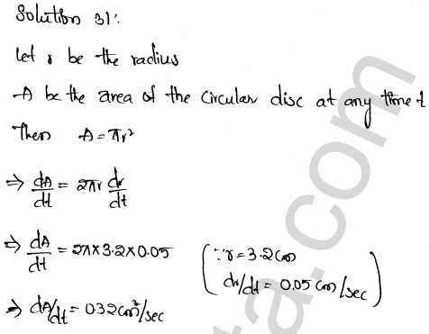 RD Sharma Class 12 Solutions Chapter 13 Derivative as a Rate Measurer Ex 13.2 1.22