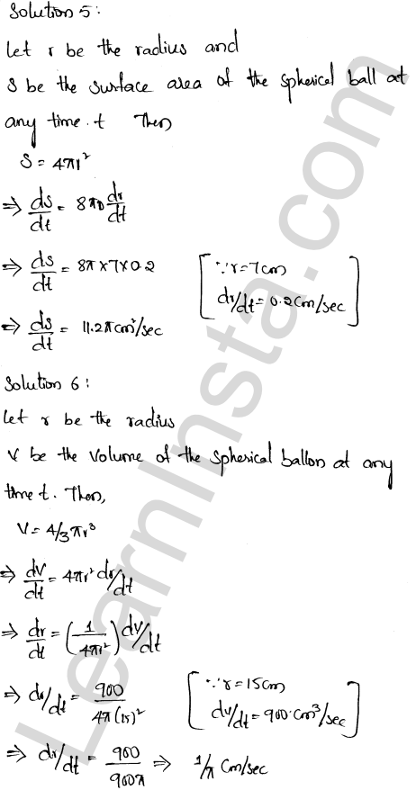 RD Sharma Class 12 Solutions Chapter 13 Derivative as a Rate Measurer Ex 13.2 1.3
