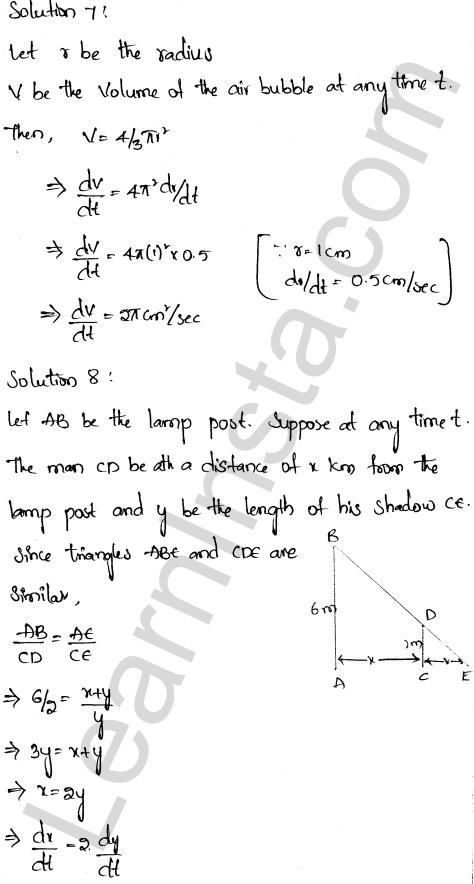 RD Sharma Class 12 Solutions Chapter 13 Derivative as a Rate Measurer Ex 13.2 1.4
