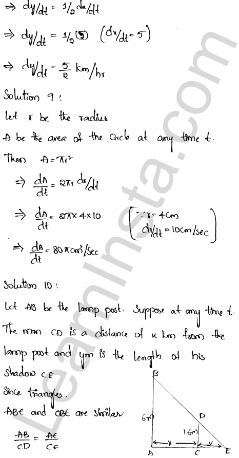 RD Sharma Class 12 Solutions Chapter 13 Derivative as a Rate Measurer Ex 13.2 1.5