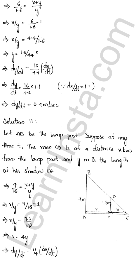 RD Sharma Class 12 Solutions Chapter 13 Derivative as a Rate Measurer Ex 13.2 1.6