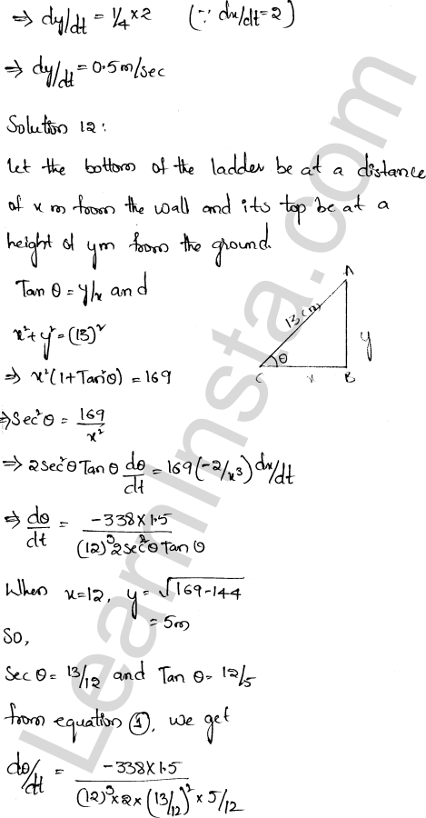 RD Sharma Class 12 Solutions Chapter 13 Derivative as a Rate Measurer Ex 13.2 1.7