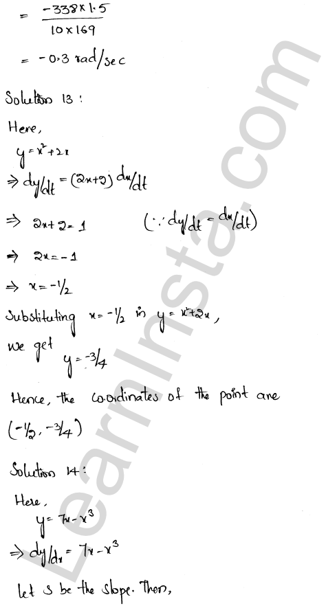 RD Sharma Class 12 Solutions Chapter 13 Derivative as a Rate Measurer Ex 13.2 1.8