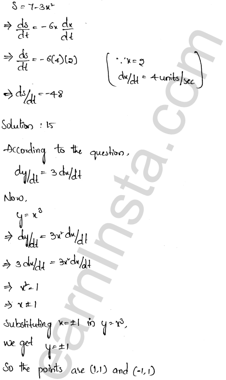 RD Sharma Class 12 Solutions Chapter 13 Derivative as a Rate Measurer Ex 13.2 1.9