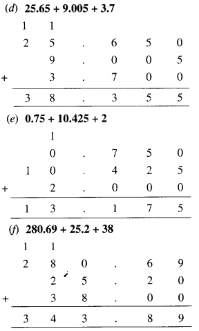 NCERT Solutions for Class 6 Maths Chapter 8 Decimals 38