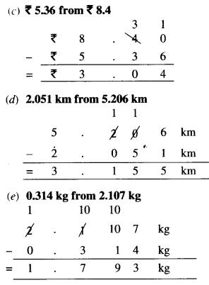 NCERT Solutions for Class 6 Maths Chapter 8 Decimals 49