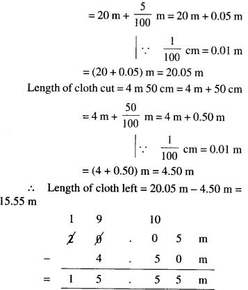 NCERT Solutions for Class 6 Maths Chapter 8 Decimals 53