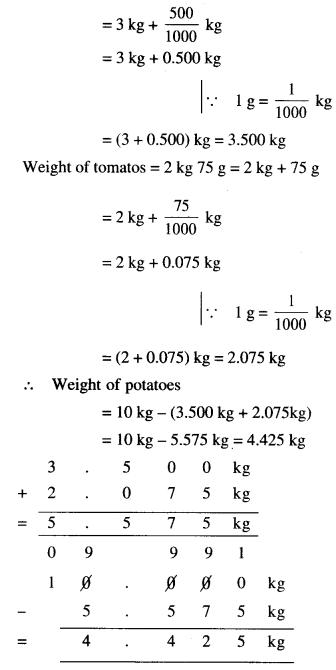 NCERT Solutions for Class 6 Maths Chapter 8 Decimals 55