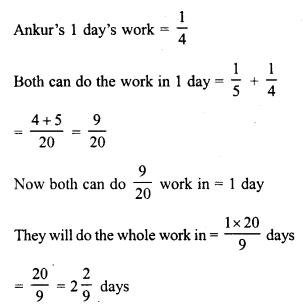 RD Sharma Class 8 Solutions Chapter 11 Time and Work Ex 11.1 1
