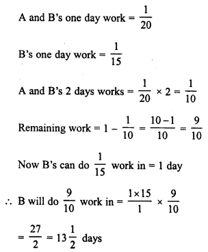 RD Sharma Class 8 Solutions Chapter 11 Time and Work Ex 11.1 13