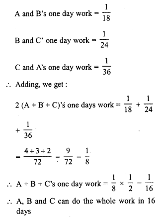 RD Sharma Class 8 Solutions Chapter 11 Time and Work Ex 11.1 5