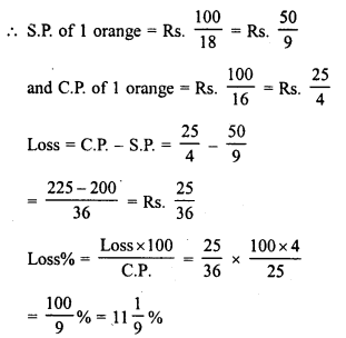 RD Sharma Class 8 Solutions Chapter 13 Profits, Loss, Discount and Value Added Tax (VAT)Ex 13.1 13