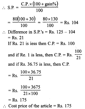 RD Sharma Class 8 Solutions Chapter 13 Profits, Loss, Discount and Value Added Tax (VAT)Ex 13.1 20