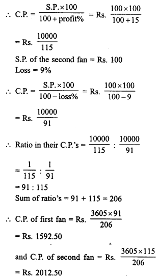 RD Sharma Class 8 Solutions Chapter 13 Profits, Loss, Discount and Value Added Tax (VAT)Ex 13.1 25