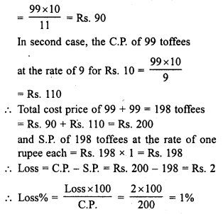 RD Sharma Class 8 Solutions Chapter 13 Profits, Loss, Discount and Value Added Tax (VAT)Ex 13.1 26
