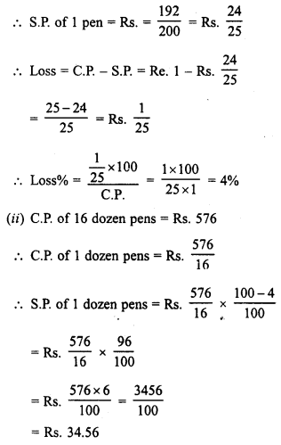 RD Sharma Class 8 Solutions Chapter 13 Profits, Loss, Discount and Value Added Tax (VAT)Ex 13.1 28