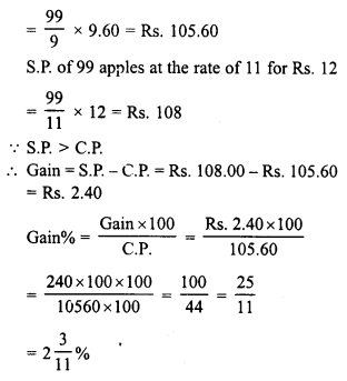 RD Sharma Class 8 Solutions Chapter 13 Profits, Loss, Discount and Value Added Tax (VAT)Ex 13.1 3