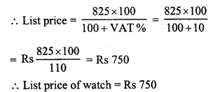 RD Sharma Class 8 Solutions Chapter 13 Profits, Loss, Discount and Value Added Tax (VAT)Ex 13.3 1