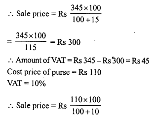 RD Sharma Class 8 Solutions Chapter 13 Profits, Loss, Discount and Value Added Tax (VAT)Ex 13.3 19