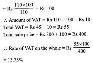 RD Sharma Class 8 Solutions Chapter 13 Profits, Loss, Discount and Value Added Tax (VAT)Ex 13.3 20